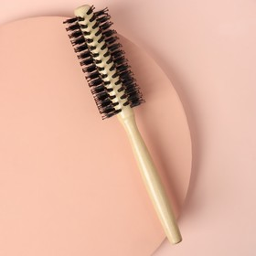Brushing, d=2,8/4cm, combined bristles, light wood color