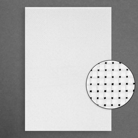 Canvas for embroidery No. 11, 30 × 20 cm, color white