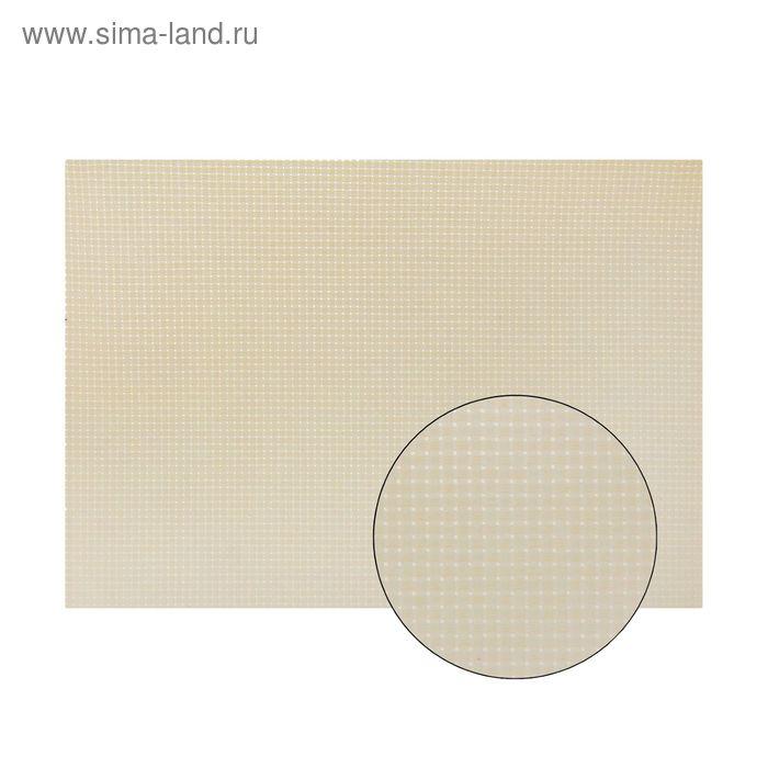 Канва для вышивания №11, 60х40см, цвет молочный
