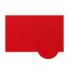 Канва для вышивания №11, 30х40см, цвет красный