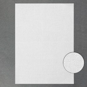 Canvas for embroidery No. 11, 30 × 40 cm, white