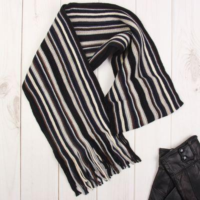 """Шарф мужской """"Бэйкер стрит"""", цвет черный ,18*160 см, 100% полиэстер, акрил"""