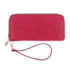 Портмоне женское, 1 отдел для купюр, для кредитных карт, цвет розовый