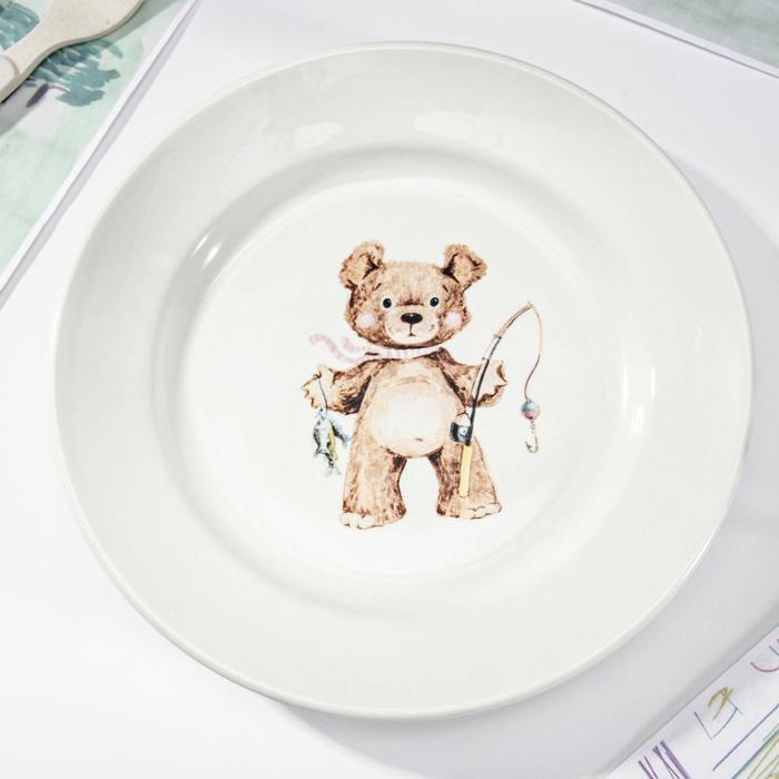 "Тарелка мелкая 20 см ""Медвежата"", рисунок МИКС"