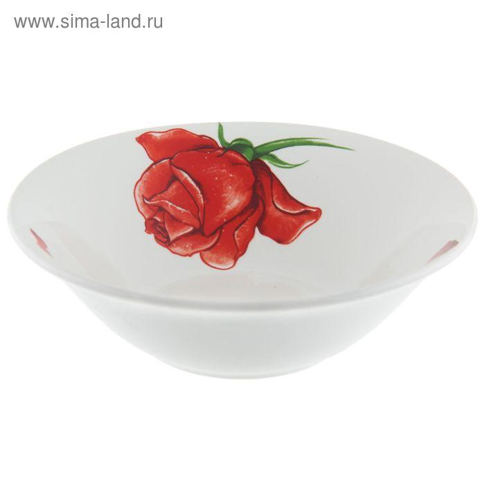 """Салатник 600 мл, d=18 см, h=5,6 см """"Розы-5"""""""