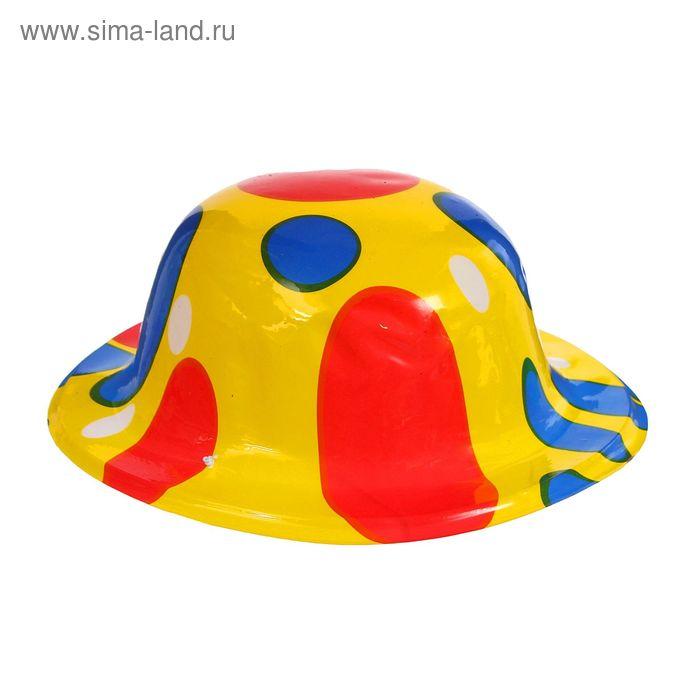 """Карнавальная шляпа """"Круги"""" на резинке цвета МИКС"""