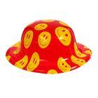 """Карнавальная шляпа """"Смайлики"""" на резинке цвета МИКС"""