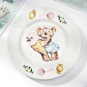 Тарелка мелкая Кубаньфарфор «Медвежата», d=17,5 см