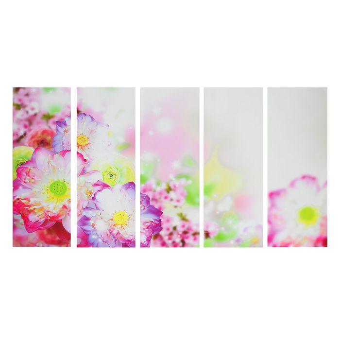 """Картина модульная на подрамнике """"Тайские цветы"""" 5-30х80 см - фото 1626879"""