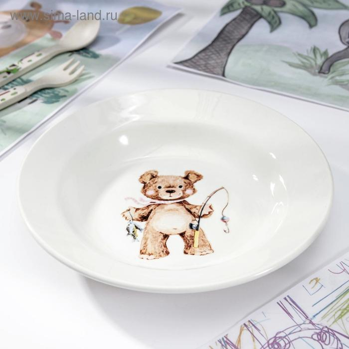 "Тарелка глубокая 250 мл d=20 см h=4 см ""Медвежата"" , рисунок МИКС"