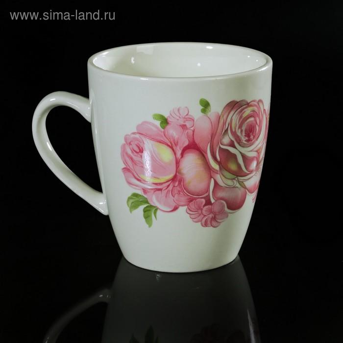 """Кружка 370 мл, d=9 см, h=12,4 см """"Розовые розы"""""""