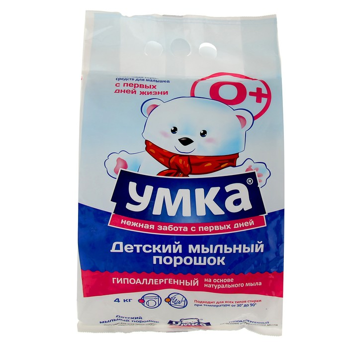 """Порошок стиральный универсальный  детский  """"Умка"""", 0+ 4 кг"""