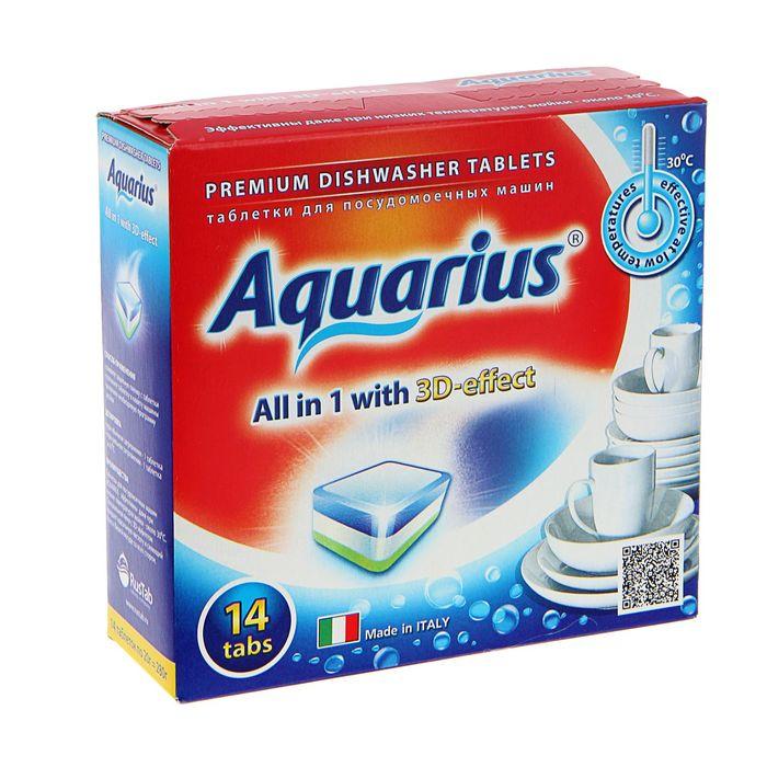 Таблетки Aquarius для посудомоечных машин All in 1, 14 шт.