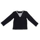 Джемпер для мальчика, рост 116 см, цвет черный И-008