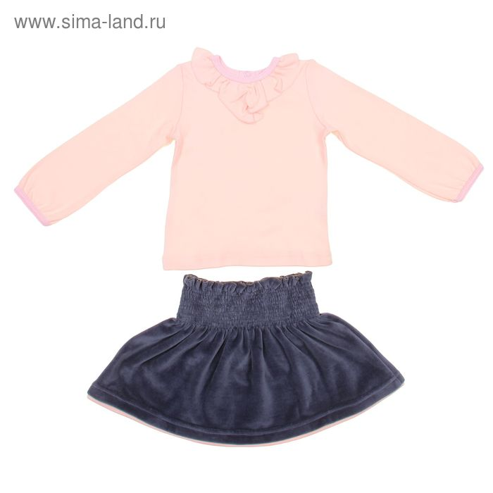 Комплект (джмепер, юбка) для девочки, рост 116 см, цвет розовый/темно-серый И-039_Д