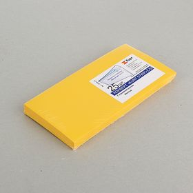 Конверт С65 114х229 мм, цветной, силиконовая лента, 120 г/м², жёлтый
