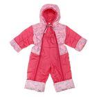 """Комбинезон для девочки """"Малыш"""" шелтер, рост 104 см, принт+розовый"""