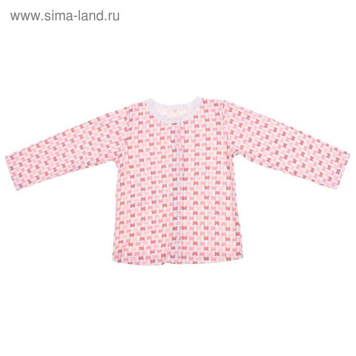 Кофточка на кнопках с длинным рукавом для девочки, рост 56 см, цвет микс 30-4706 - С