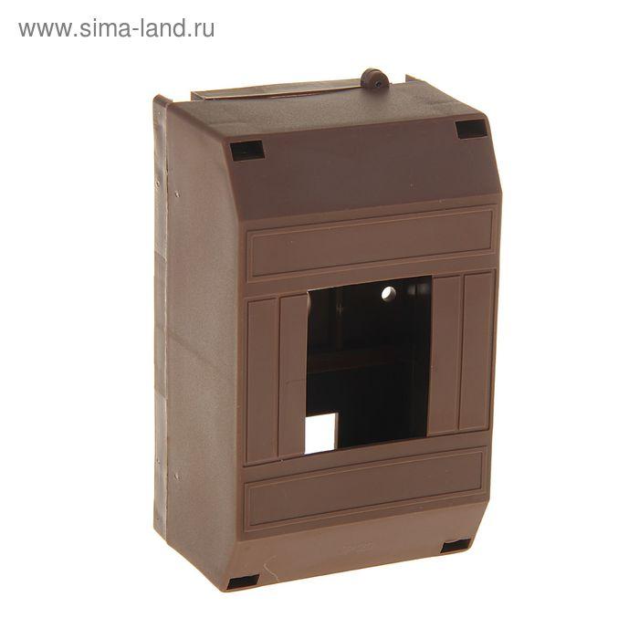Бокс для автом. выключателей на 2-4 модуля, 75 х 124 х 57 мм, IP 20, цвет темного дерева