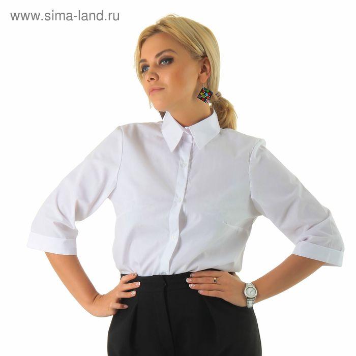 Рубашка женская Collorista с рукавом 3/4, размер L (48), цвет белый