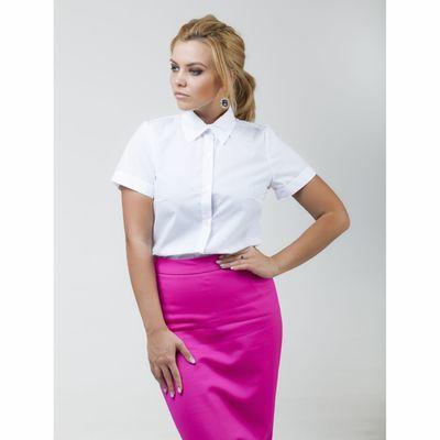 Рубашка женская Collorista с коротким рукавом, размер XL (50), цвет белый