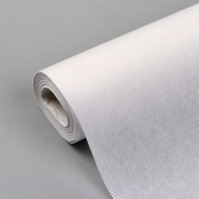 Калька 30 г/кв.м, 84 см, 15 м, цвет белый - фото 17855