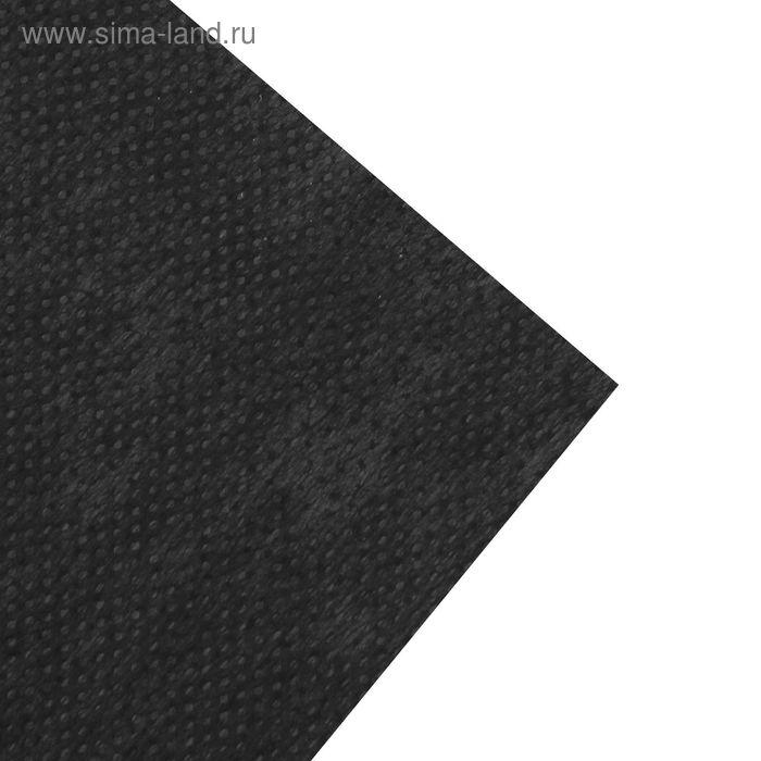 Флизелин клеевой точечный, 42,5г/кв.м, 50х100см, цвет чёрный