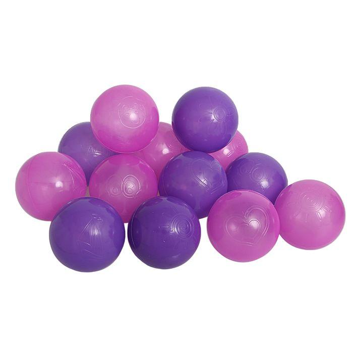 Шарики для сухого бассейна с рисунком, d=7,5 см, 30 штук, цвет сливовый