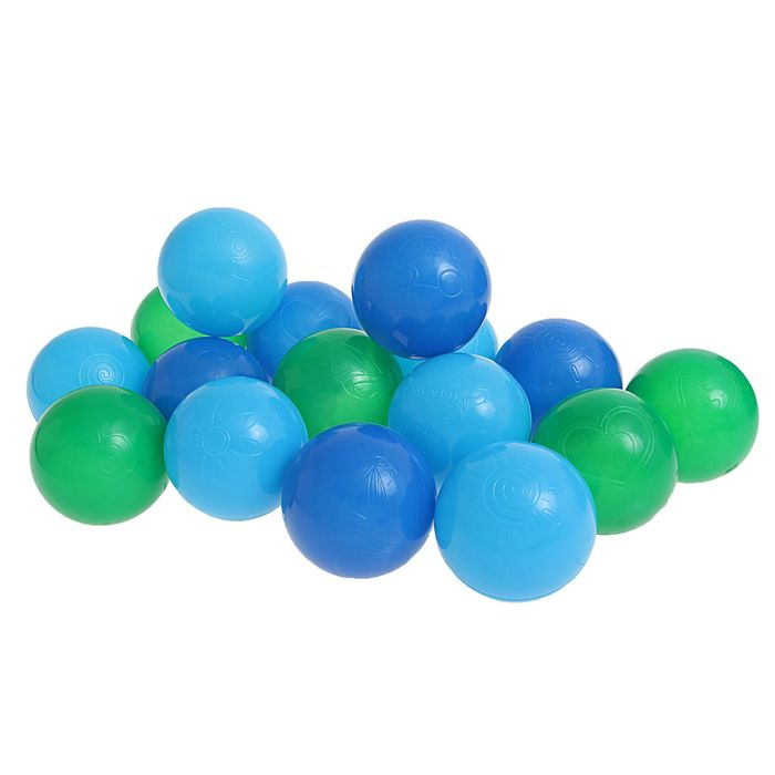 Шарики для сухого бассейна с рисунком, диаметр шара 7,5 см, набор 90 штук, цвет морской