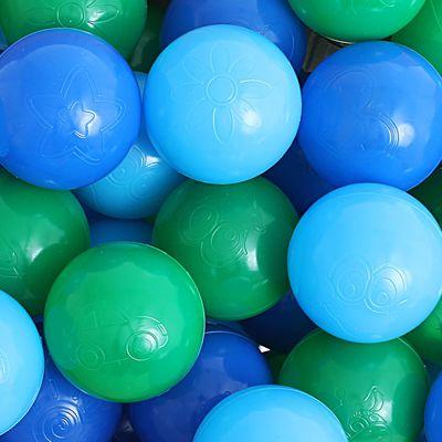Шарики для сухого бассейна с рисунком, d=7,5 см, 90 штук, цвет морской