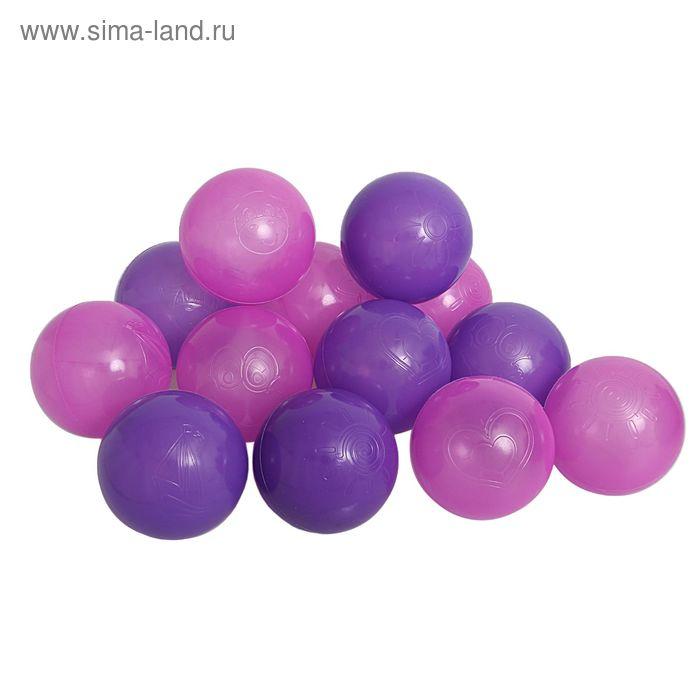 """Шарики для сухого бассейна """"Сливовые"""" с рисунком, диаметр шара 7,5 см, набор 90 шт."""