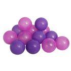 Шарики для сухого бассейна с рисунком, диаметр шара 7,5 см, набор 60 штук, цвет сливовый
