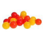 Шарики для сухого бассейна с рисунком, диаметр шара 7,5 см, набор 30 штук, цвет оранжевый, красный, жёлтый