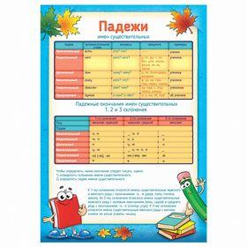 Плакат обучающий А4 'Падежи' Ош