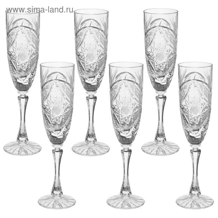 "Набор бокалов для шампанского 140 мл ""Махаон"", 6 шт"