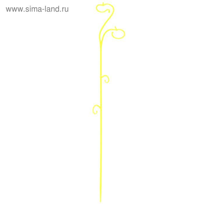 Опора для орхидеи 60 см, цвет желтый