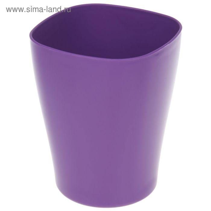 """Кашпо 2 л """"Ирис"""", цвет фиолетовый"""