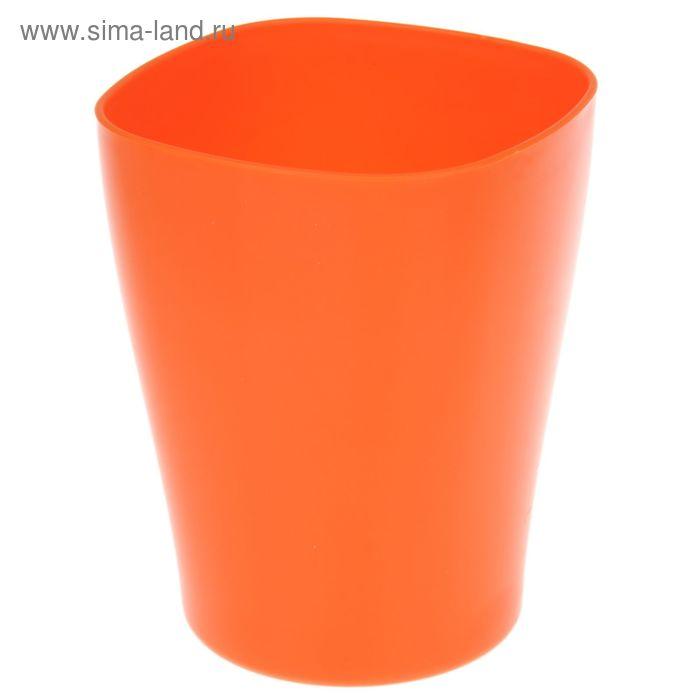 """Кашпо 2 л """"Ирис"""", цвет оранжнвый"""