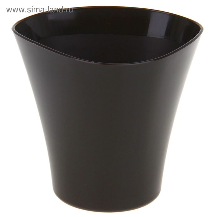 "Кашпо 1,5 л ""Волна"", цвет темный шоколад"
