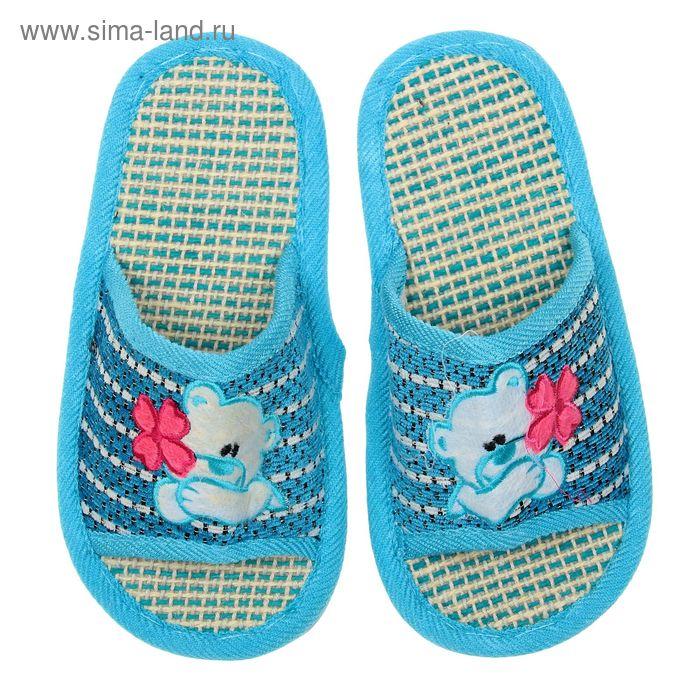 Туфли домашние открытые для девочки, размер 32-33. цвет МИКС
