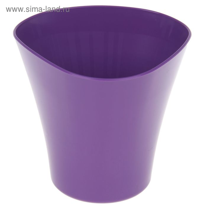 """Кашпо 600 мл """"Волна"""", цвет фиолетовый"""