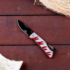 Нож перочинный Мастер К лезвие 7см, рукоять Огонь, крепление-петля 16,5см в Донецке