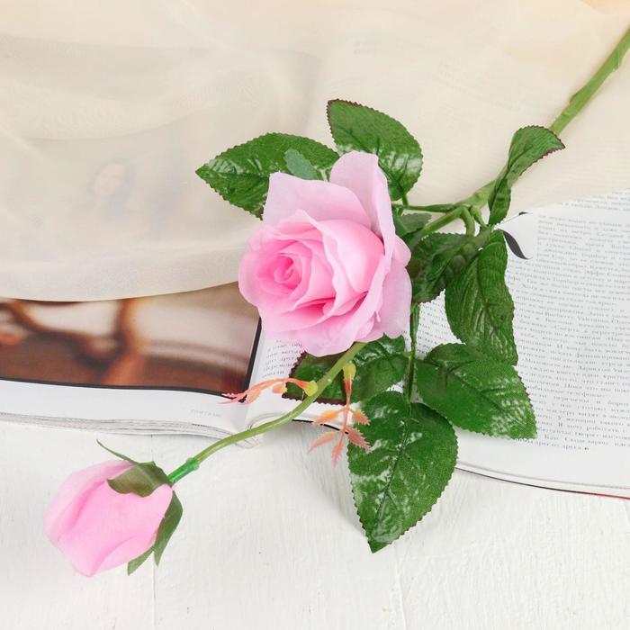 """Цветы искусственные """"Уральская роза"""" розовая 45 см - фото 4455884"""