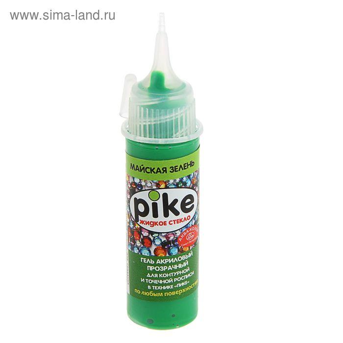 Гель для точечной росписи и контурирования Пике 18мл Аква-колор прозрачный майская зелень К6107