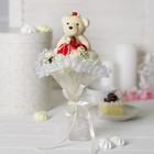 """Букет с мишкой """"Для тебя"""", 7 цветков, цвет белый"""