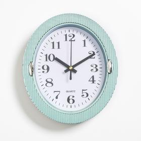 """Часы настенные, серия: Классика, """"Бенедатта"""", 19х22 см, голубые в Донецке"""