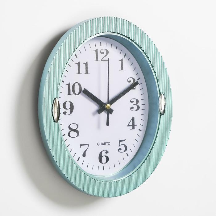 """Часы настенные, серия: Классика, """"Бенедатта"""", 19х22 см, голубые"""