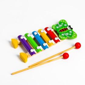 Игрушка музыкальная Металлофон «Бабочка», 5 тонов