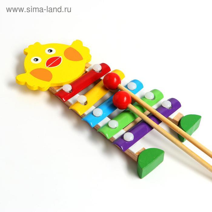 """Игрушка музыкальная Металлофон """"Цыплёнок"""", 5 тонов"""