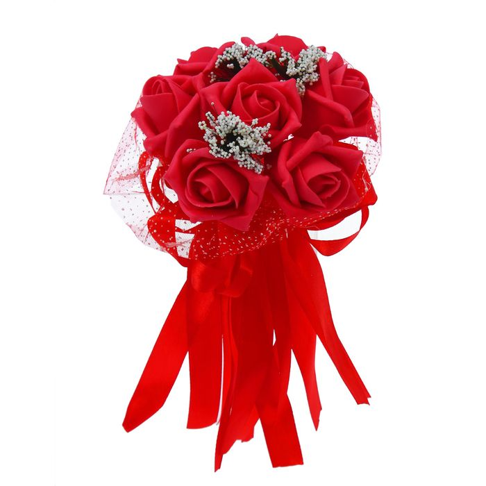 """Букет-дублер """"С нежностью"""" 7 цветов, красный"""